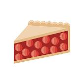 Pie Flat Design Dessert Icon
