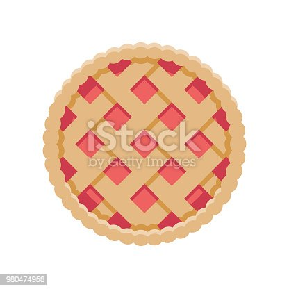 istock Pie Flat Design Dessert Icon 980474958
