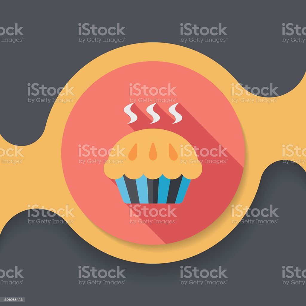 pie flat icon with long shadow,eps10 vector art illustration