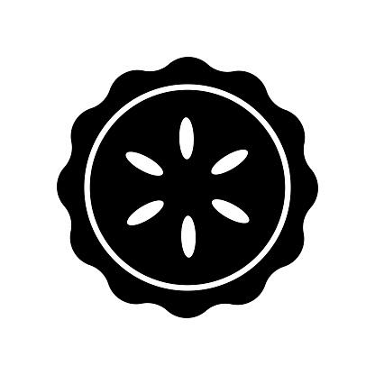 pie - food icon vector design template