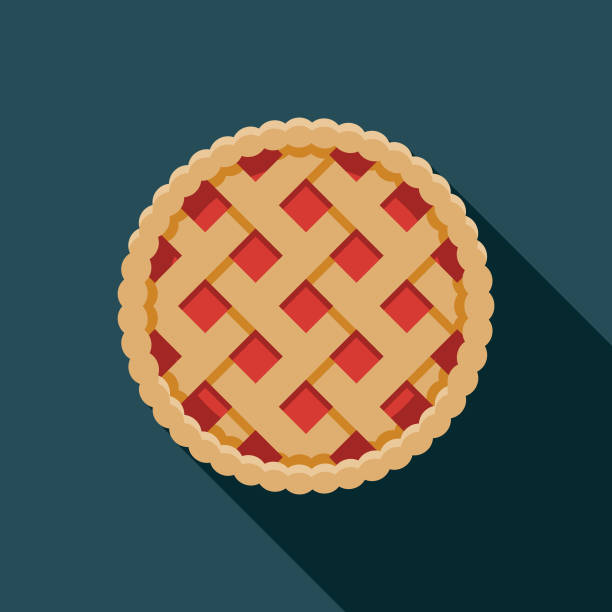 pie holiday food icon - nadziewany placek stock illustrations