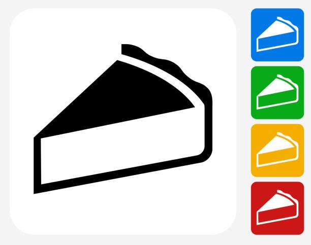 pie symbol flache grafik design - vanillesauce stock-grafiken, -clipart, -cartoons und -symbole