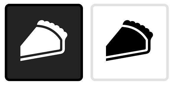 Pie Icon on  Black Button with White Rollover
