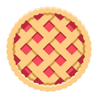 Pie Icon on Transparent Background
