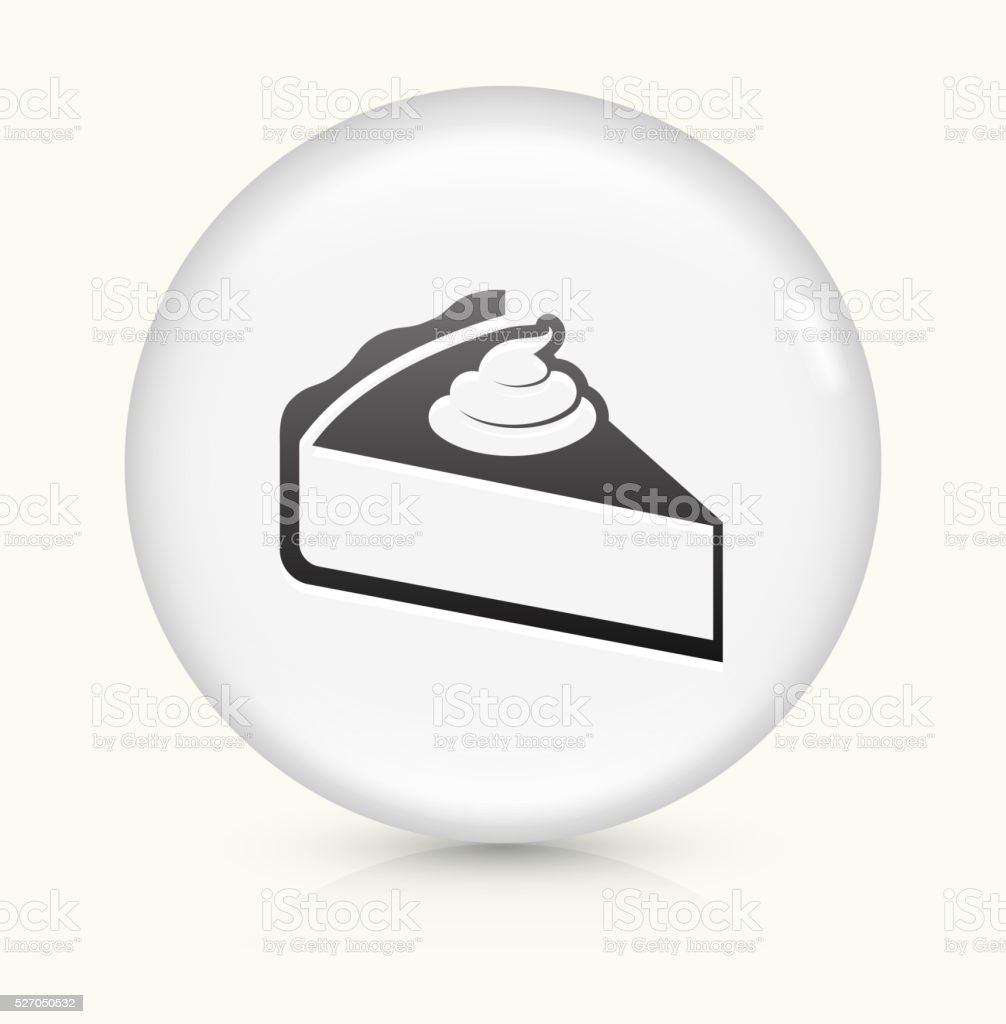 Pie icon on white round vector button vector art illustration