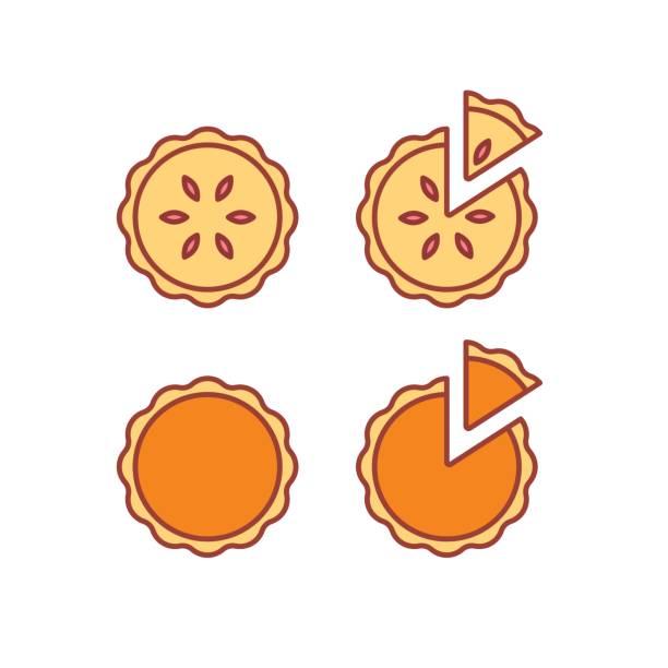 ilustrações de stock, clip art, desenhos animados e ícones de pie icons set - inteiro