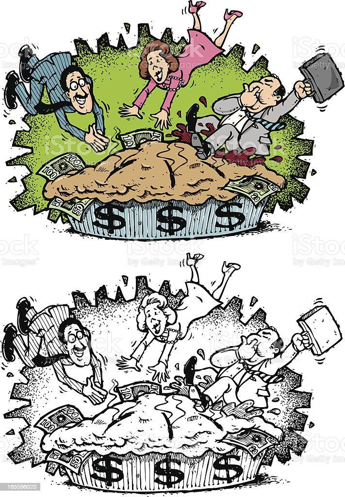 Pastel de jumpers ilustración de pastel de jumpers y más banco de imágenes de actividades bancarias libre de derechos