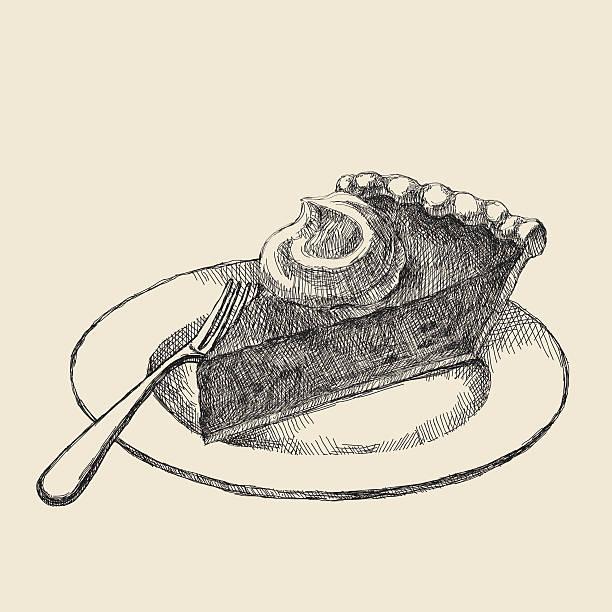 pie slice drawing - pumpkin pie 幅插畫檔、美工圖案、卡通及圖標