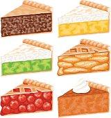 Pie Slices Icon Set