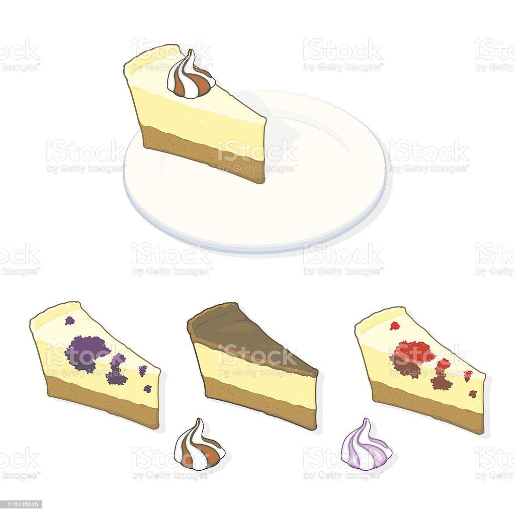 Pie Slices royalty-free stock vector art