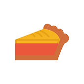 Pie thanksgiving holidays flat icon vector