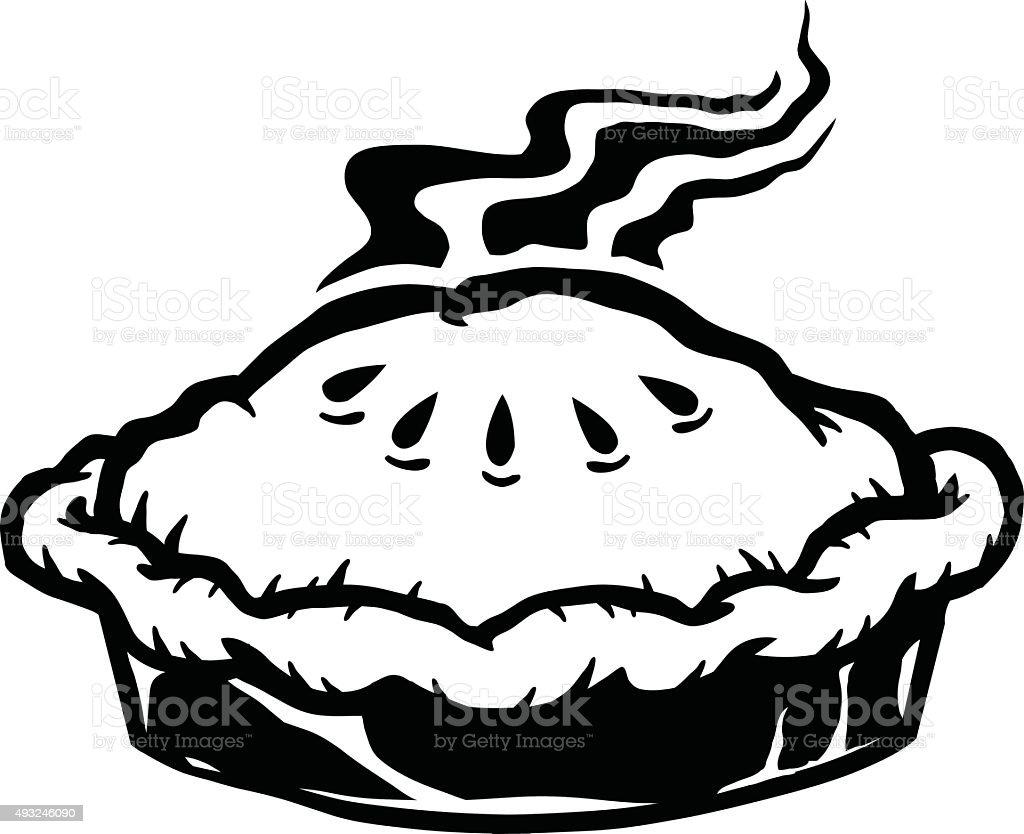 Pie vector art illustration