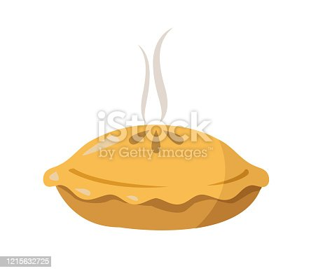 pie vector illustration on white background