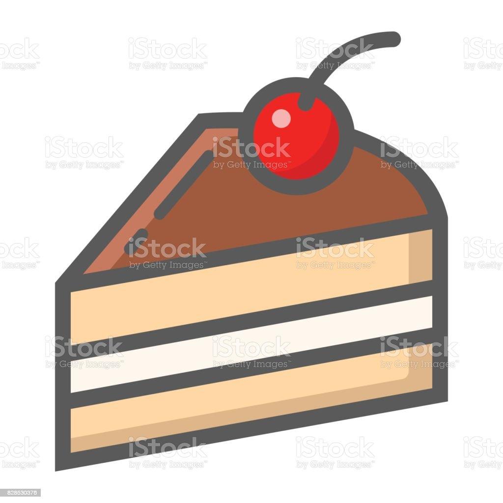 Stück Kuchen Gefüllt Übersichtsymbol Essen Und Trinken ...