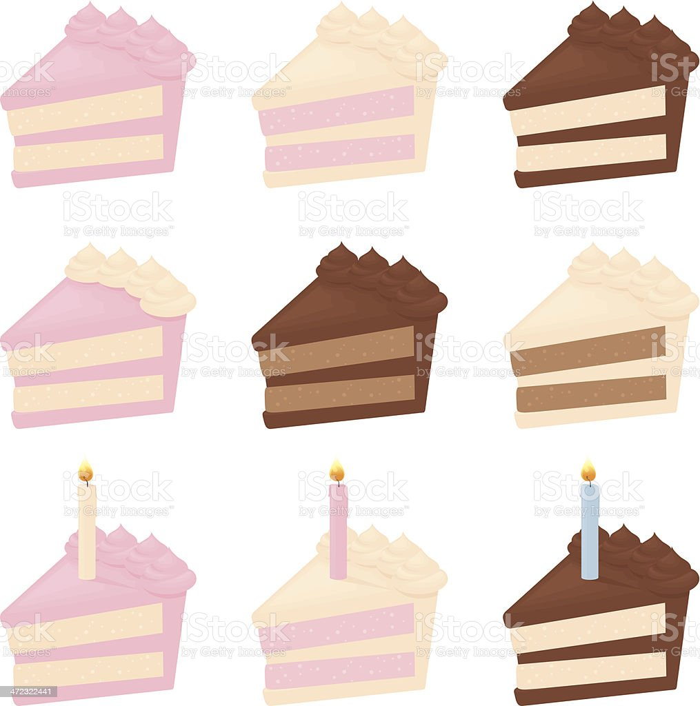 Piece of Cake vector art illustration