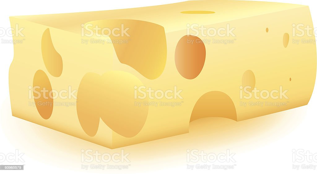 Piece of cheese royalty-free stock vector art