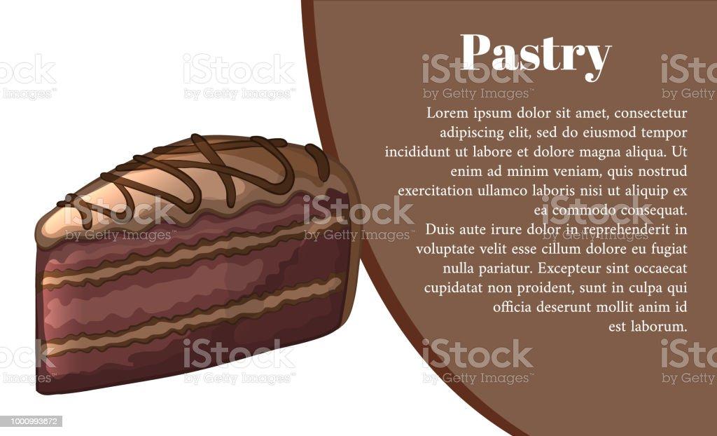 Morceau De Gateau Au Chocolat Banniere De La Patisserie Conception