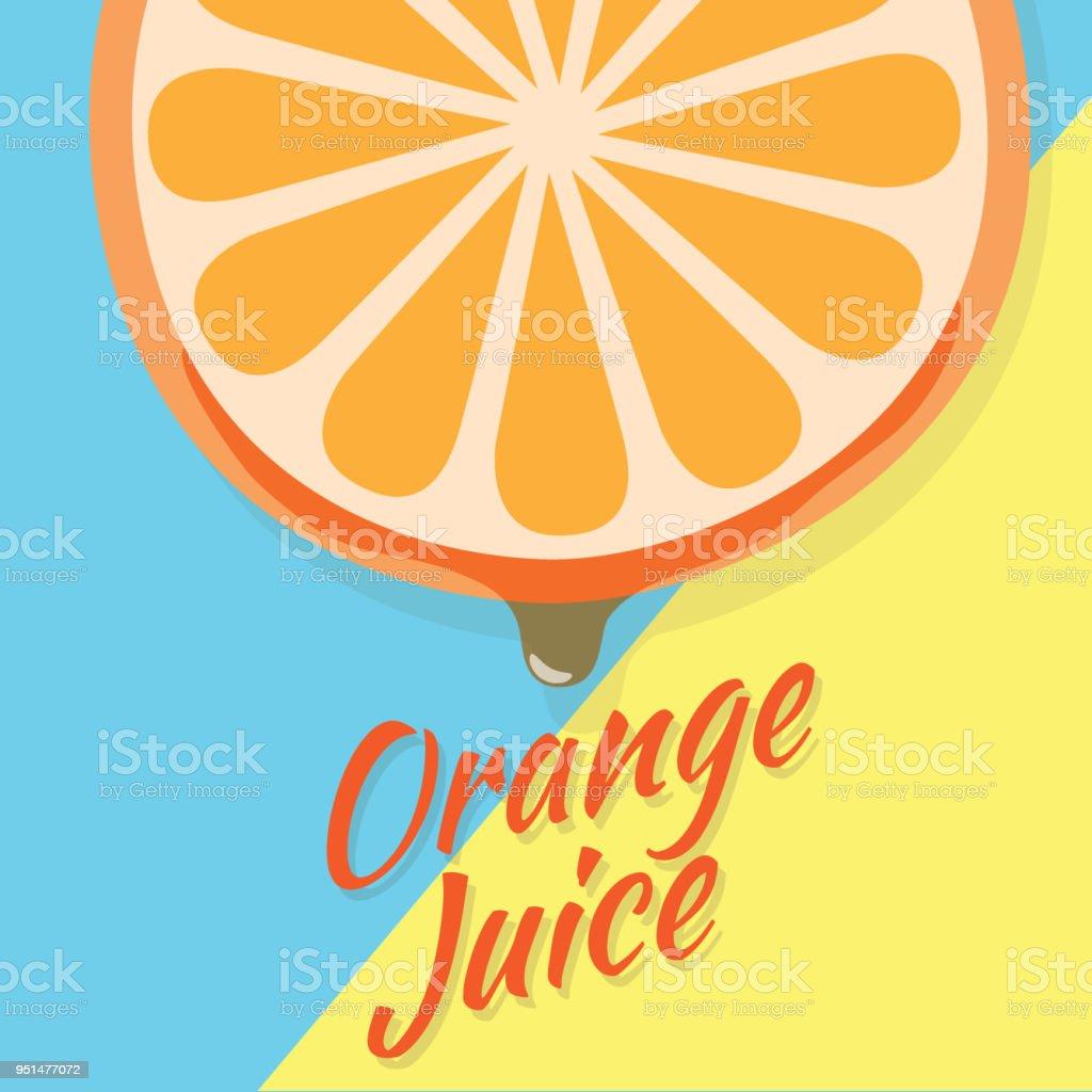 Stück Eine Halbe Orangenscheibe Saftiges Stück Obst Mit Tropfen ...