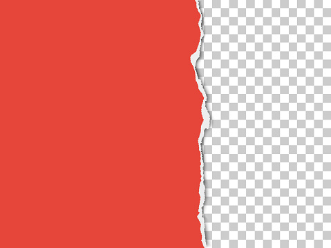 A piece of paper with the torn part on the right side. Vector template paper design.