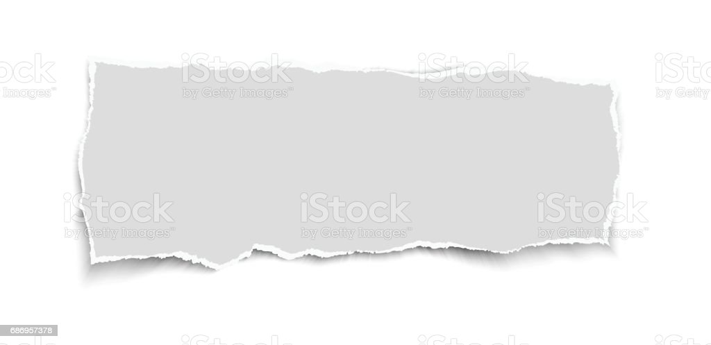 Piece of white vector torn paper. vector art illustration