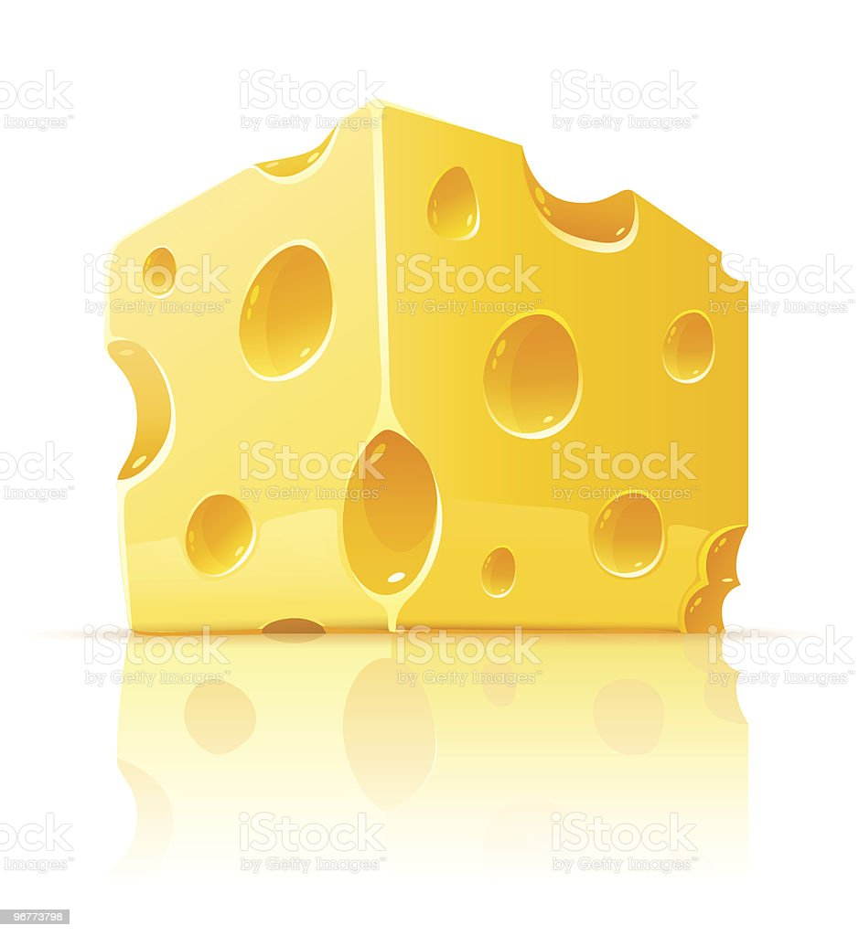 piece of yellow porous cheese food with holes royalty-free piece of yellow porous cheese food with holes stock vector art & more images of cheese
