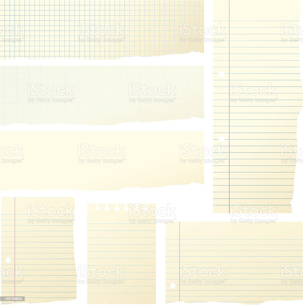 Pieces of Paper royalty-free stock vector art