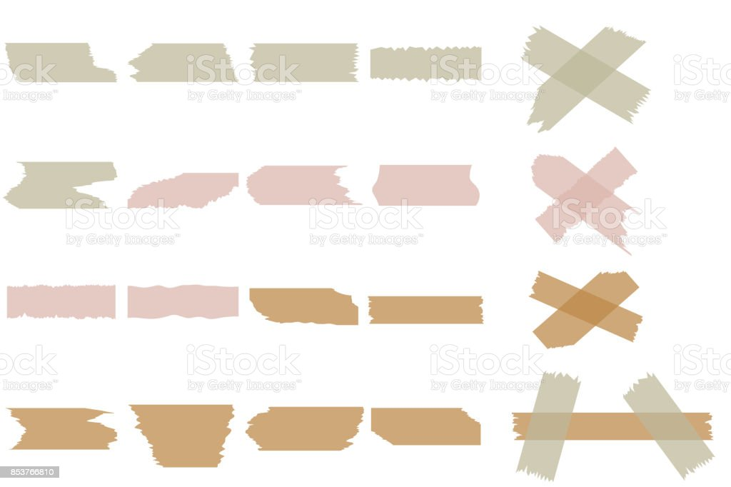 Pieces of torn paper. vector art illustration