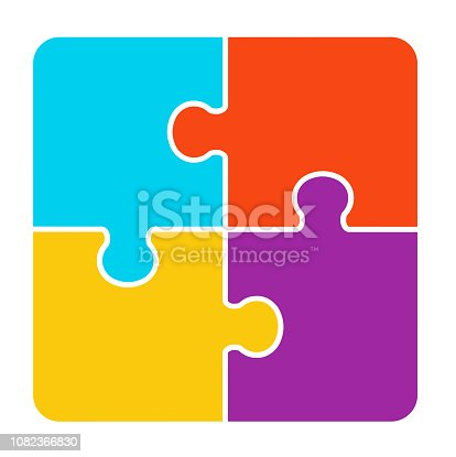 4 pieces Puzzle design