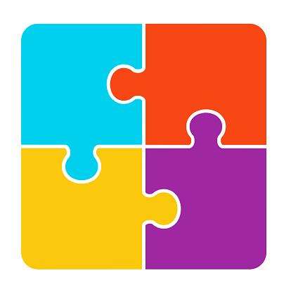 4 pieces Puzzle design