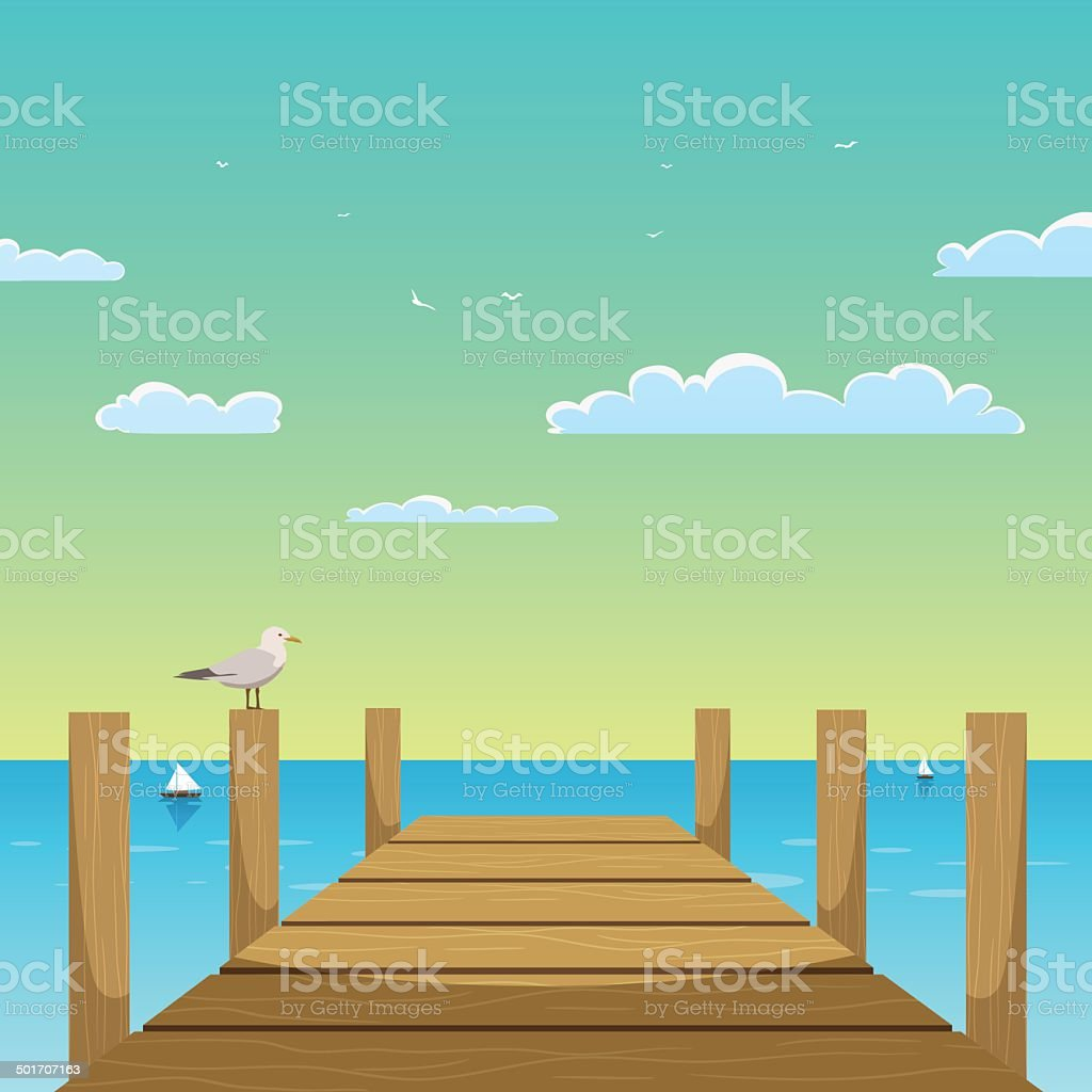Pier vector art illustration