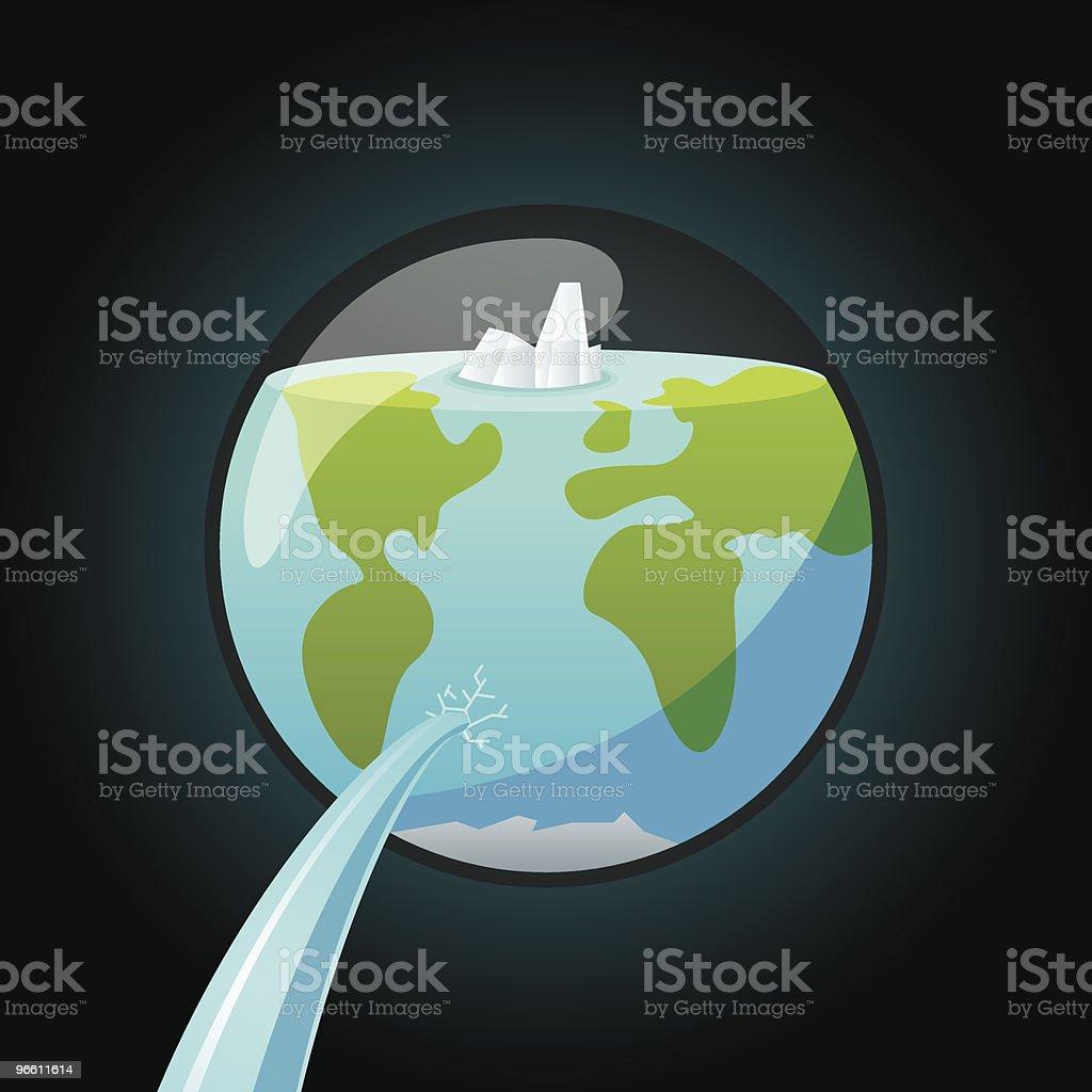 Pierced earth - Royaltyfri Färgbild vektorgrafik