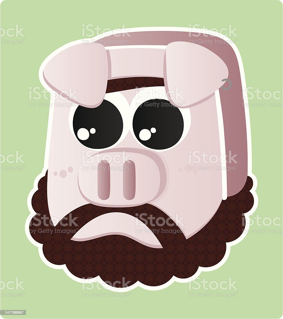 Pig bearded royalty-free stock vector art