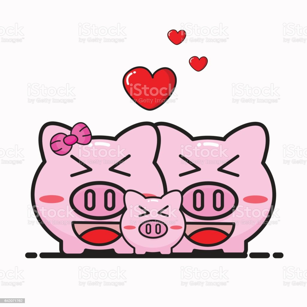 pig cartoon vector design for valentine day royalty free stock vector art - Valentine Pig