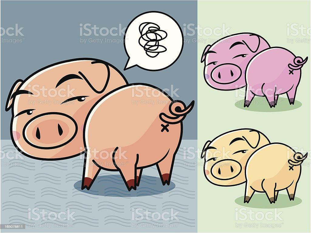 Pig Cartoon vector art illustration