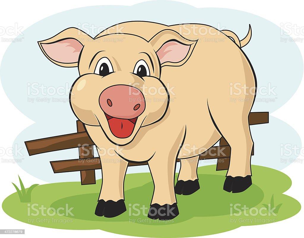 pig cartoon royalty-free pig cartoon stock vector art & more images of animal