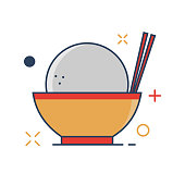 Pig Chinese New Year 2019 Icon   Bakpao Icon - with Outline Filled Style