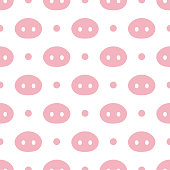 Pig Cute Seamless Pattern
