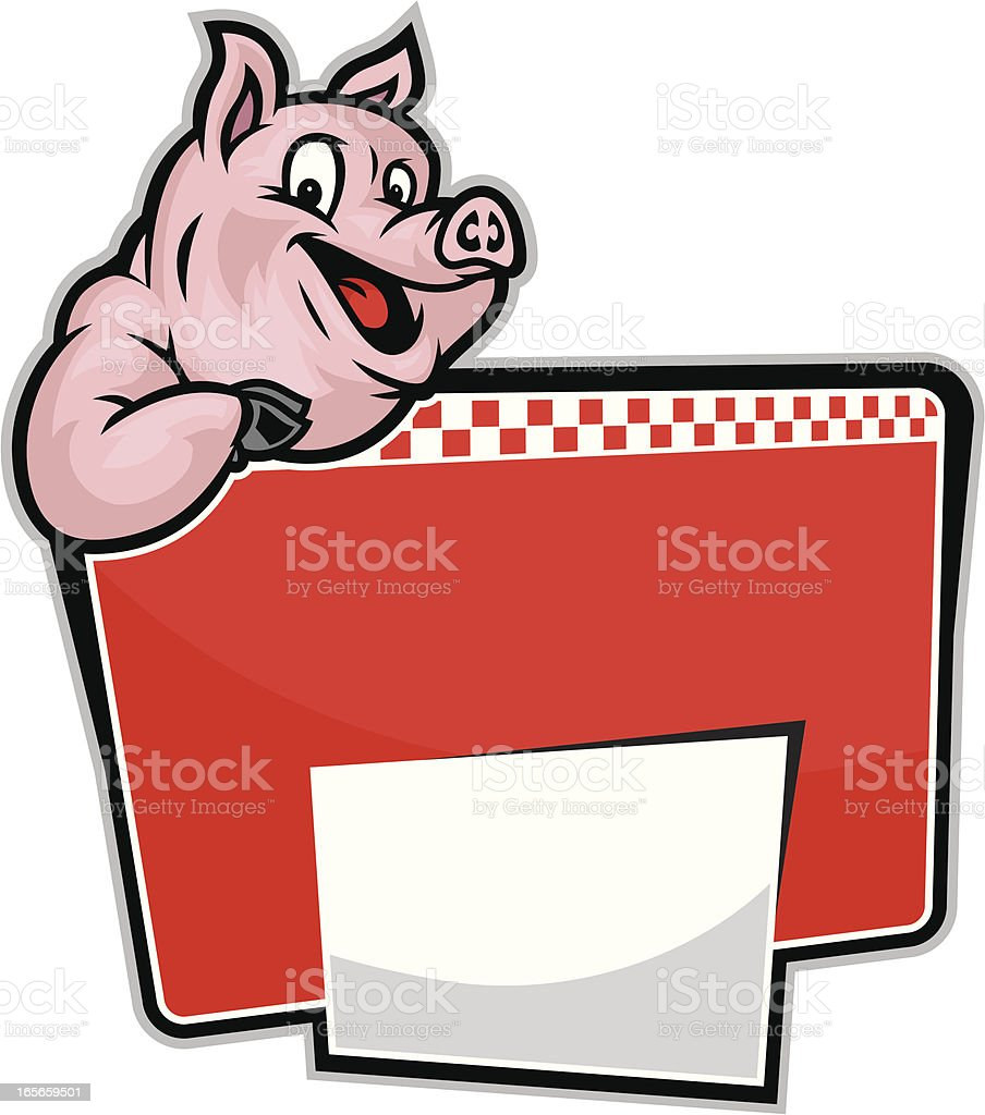 BBQ Pig Design royalty-free stock vector art