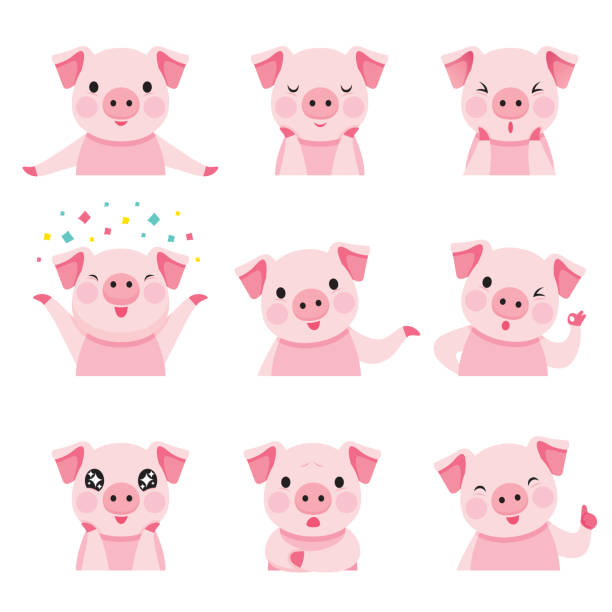 74 666 Pigs Illustrations Clip Art Istock