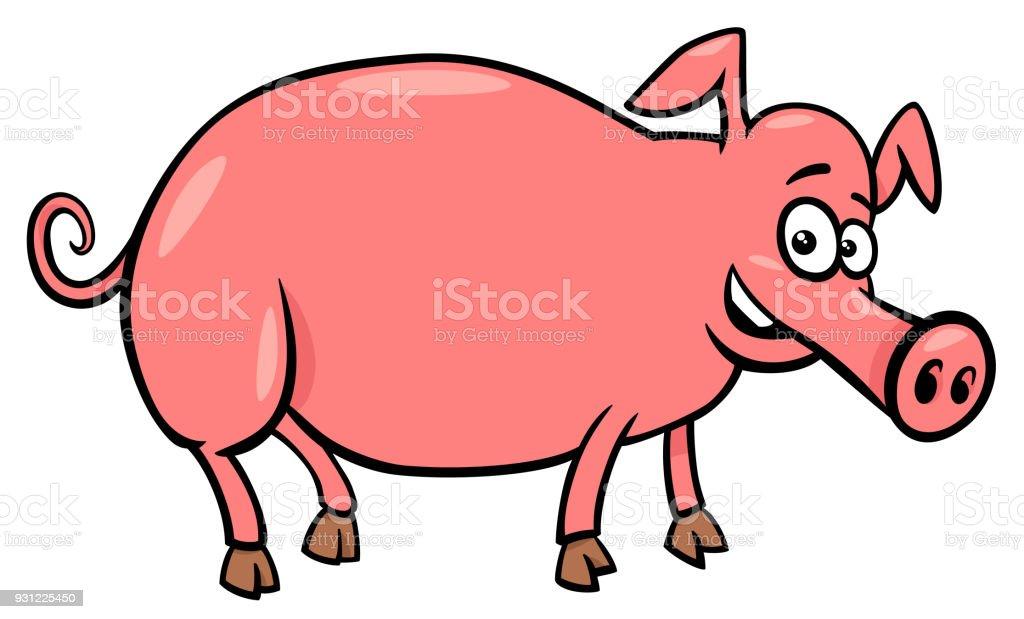 Domuz çiftliği Hayvan Karakter Karikatür çizimi Stok Vektör Sanatı