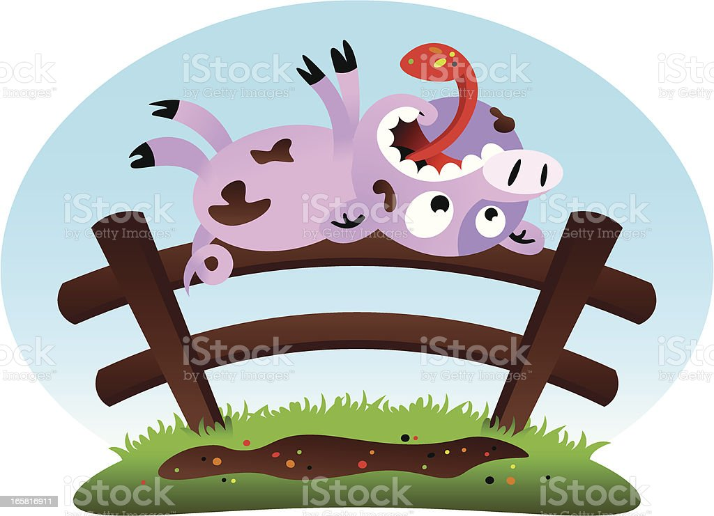 Pig Fence royalty-free pig fence stock vector art & more images of animal