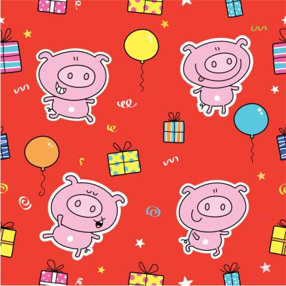 Pig Gift Pattern
