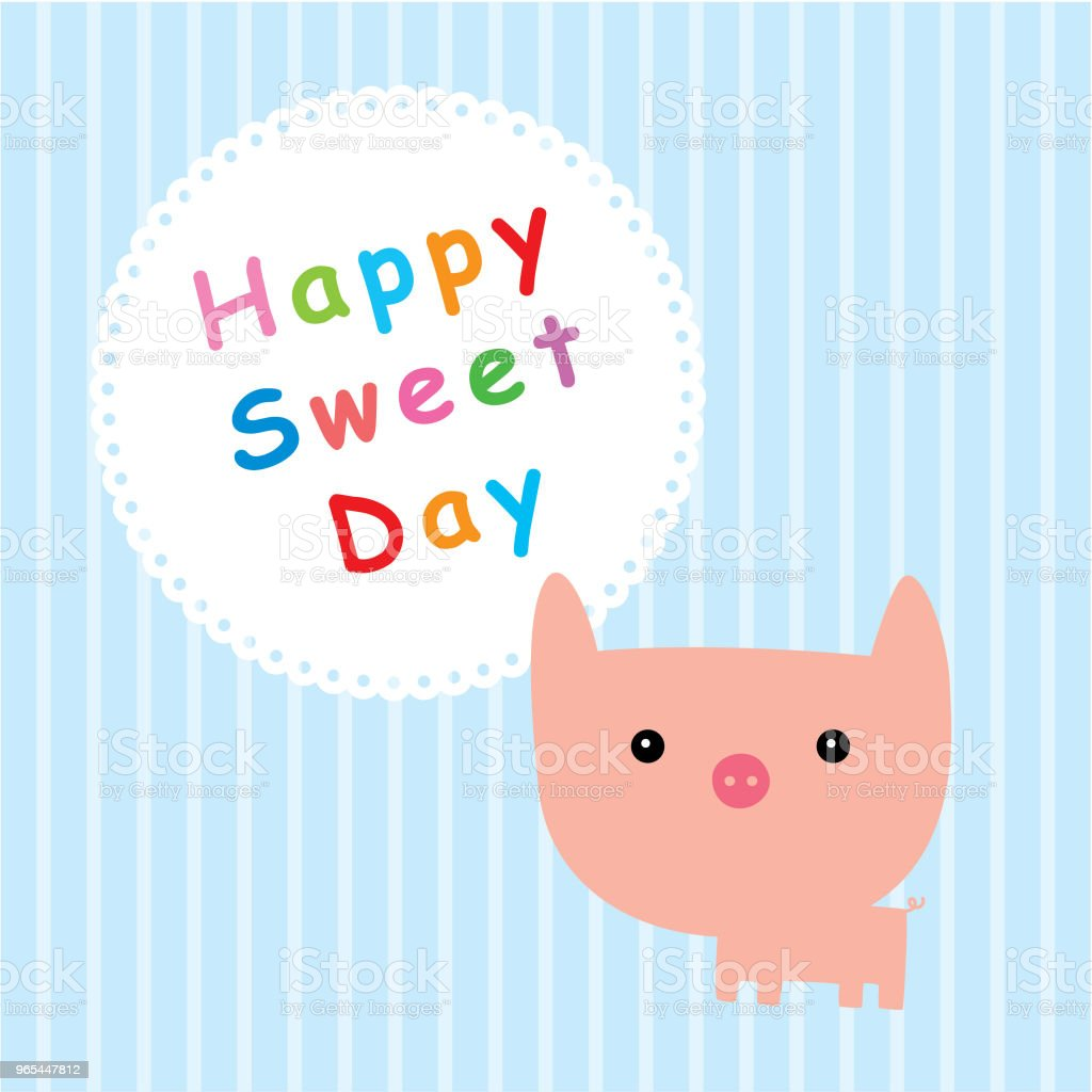 pig happy sweet day royalty-free pig happy sweet day stock vector art & more images of animal