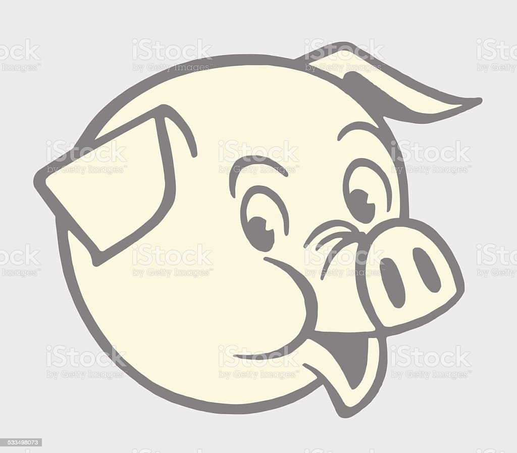 pig head stock vector art 533498073 istock