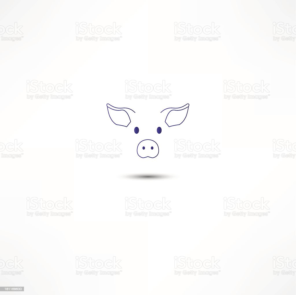 Pig Icon royalty-free pig icon stock vector art & more images of agriculture