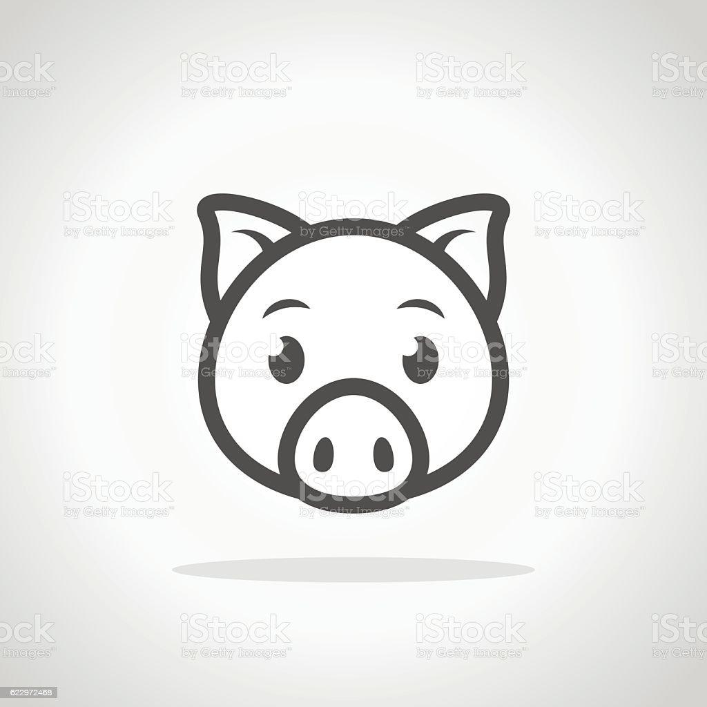 Pig icon. vector art illustration