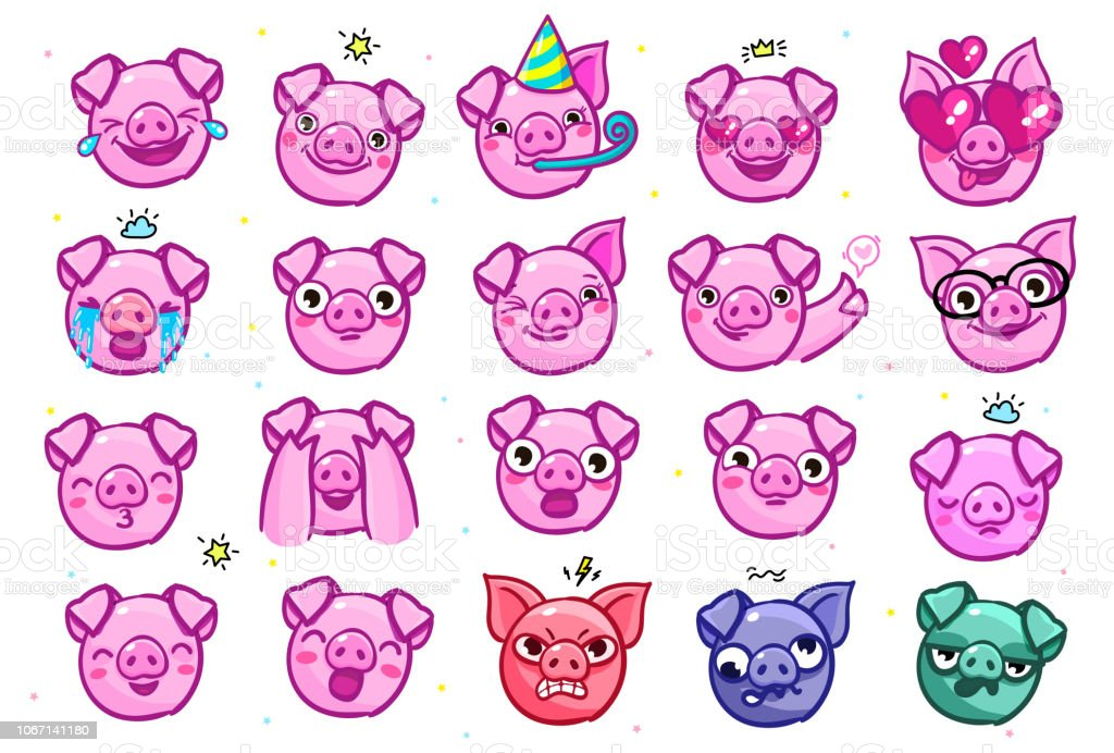 pig is a symbol of 2019 new year head of the emoji pig in pop