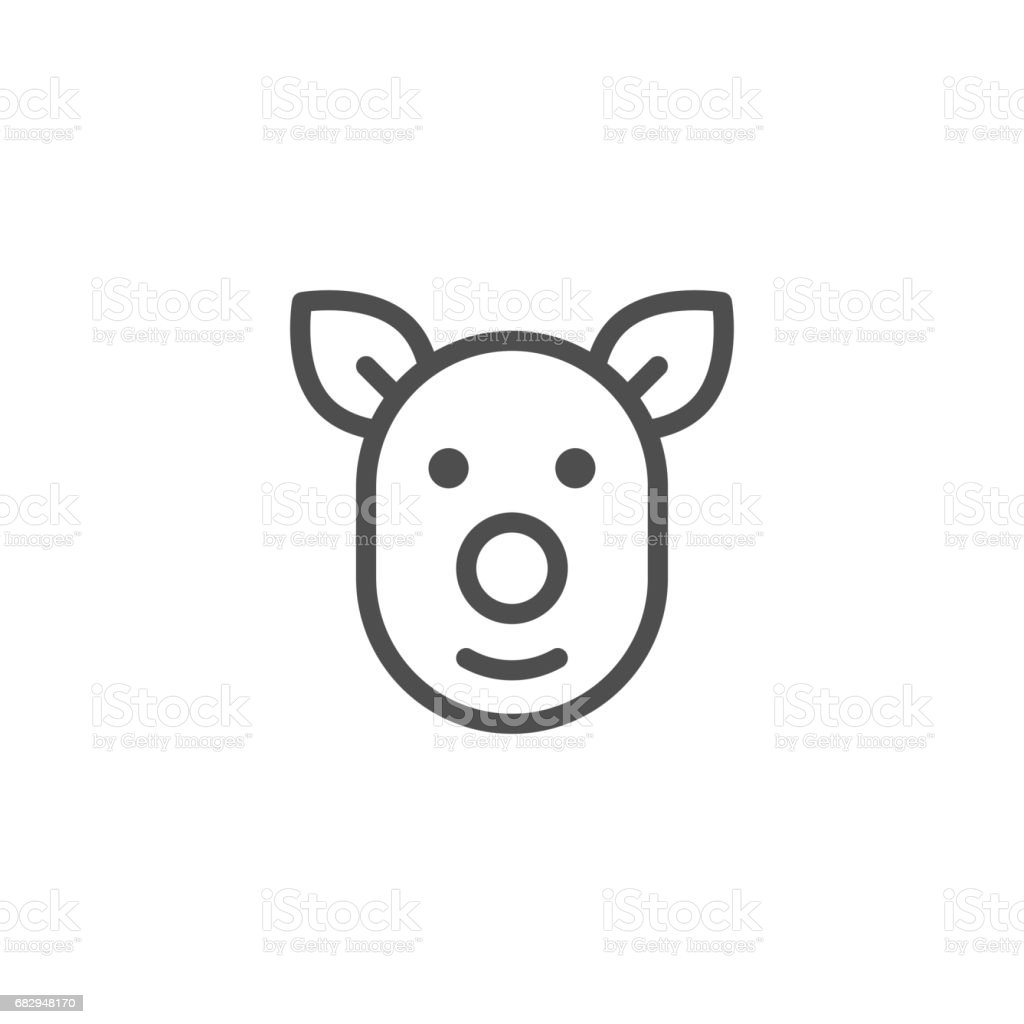 Pig line icon royalty-free pig line icon stock vector art & more images of agricultural occupation