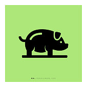 Pig Monochrome Icon