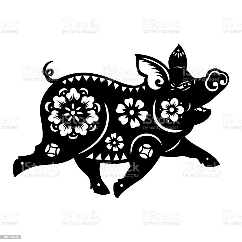 Pig Papercut Year Of The Pig 2019 Happy New Year Chinese New Year